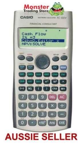 CASIO FINANCIAL CALCULATOR FC-100V FC100V FC100 NEW WARRANTY AUSSIE - financial calculator