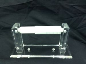 Clear Acrylic Wall Mount Toilet Paper Holder With Square