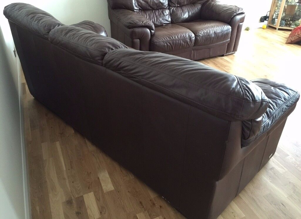 Sofas On Gumtree London Violino Dark Brown Leather Sofa Set 3 Seater And 2 Seater