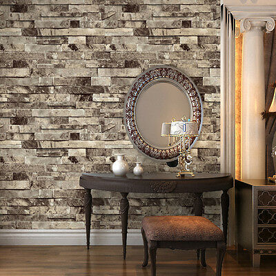 3d Effect Stone Brick Wall Textured Vinyl Wallpaper Self Adhesive Pvc Vintage 3d Texture Faux Brick Stone Wallpaper Murals