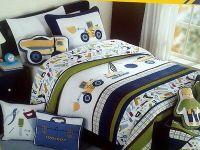 Boy Zone Twin Construction Quilt Bedding 6pc Set COTTON w ...