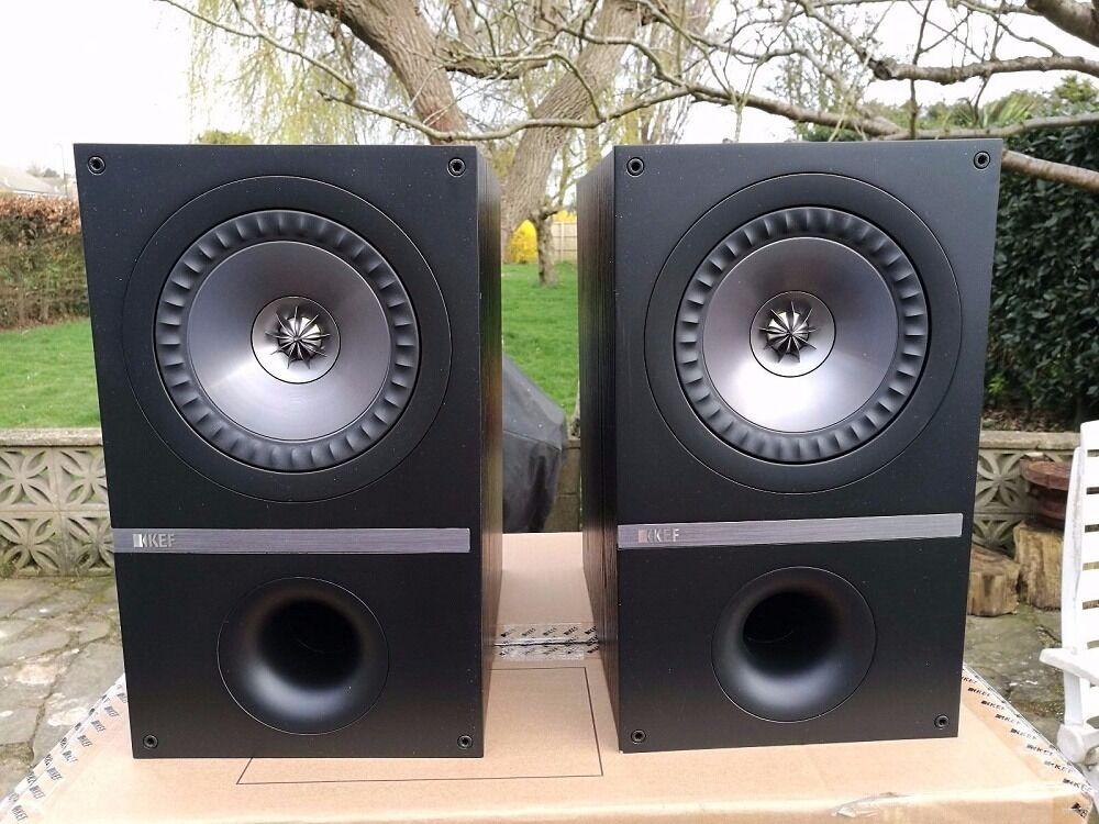 Kef Q300 Bookshelf Stereo Speakers As New In