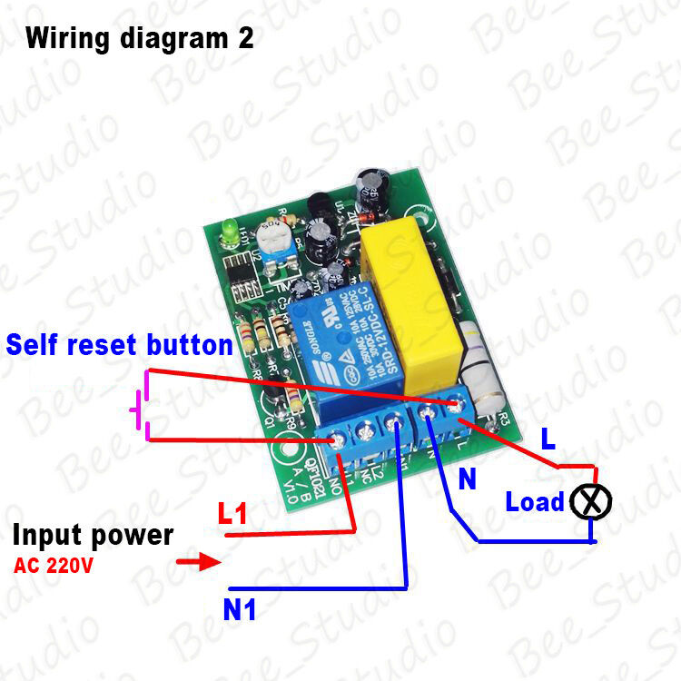 AC 220v 230v Delay Timing Timer Delay Switch Turn Off Board Time