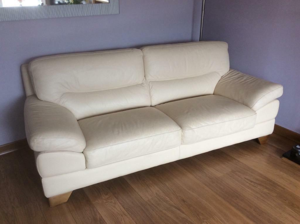 Dfs Sofas Glasgow *dfs Italian Cream Leather Suite | In Glasgow City Centre