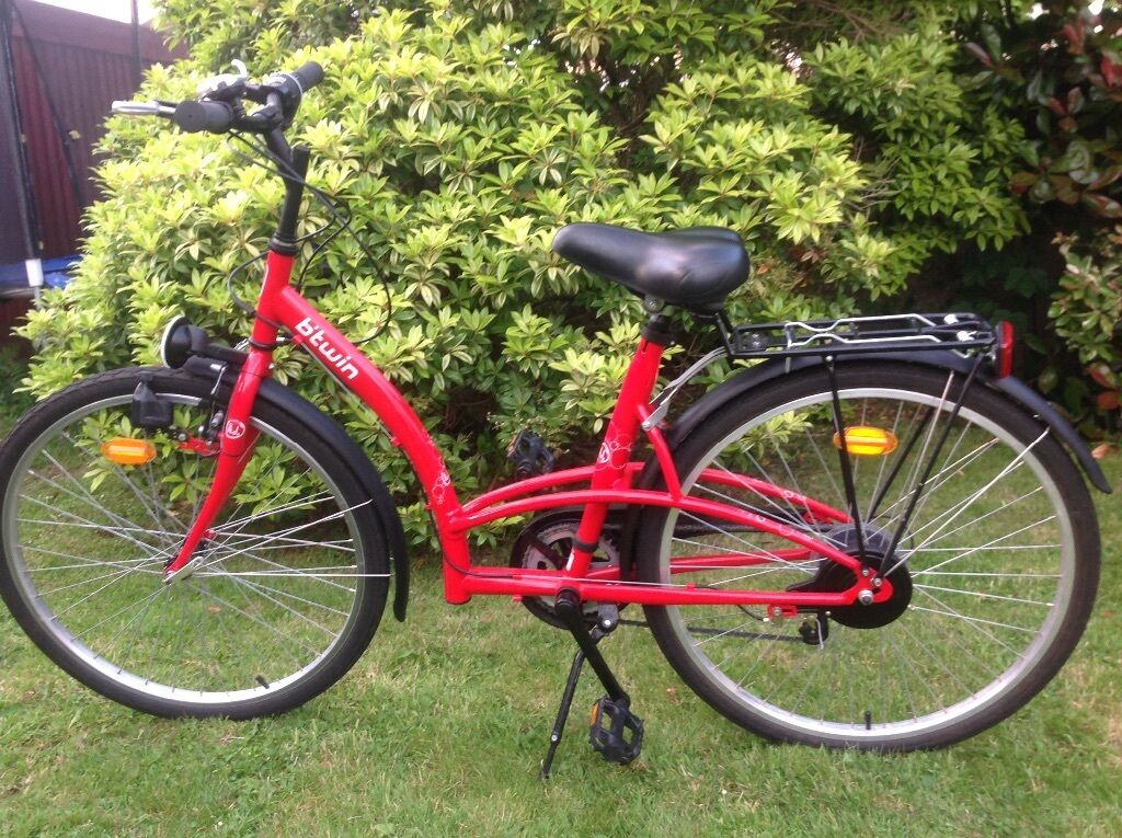 Ladies Bike Btwin Make 5 Gears Bell Lights Kick Stand
