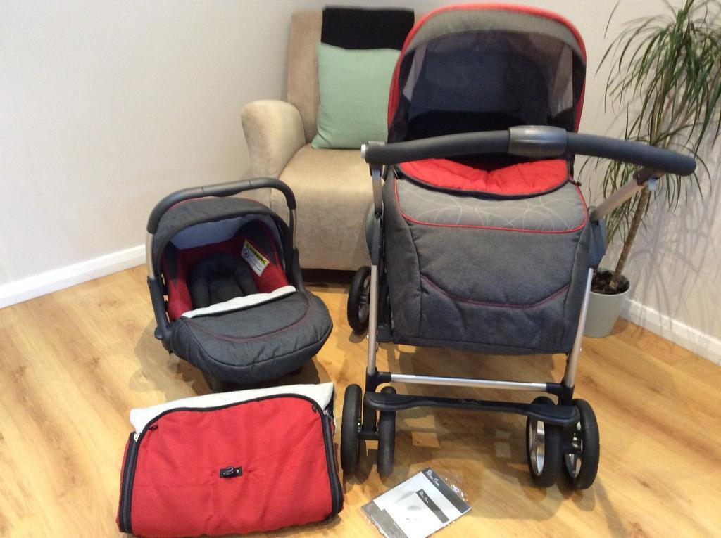 Egg Stroller Footmuff How To Use Silver Cross Travel System Pram Pushchair Car Seat In