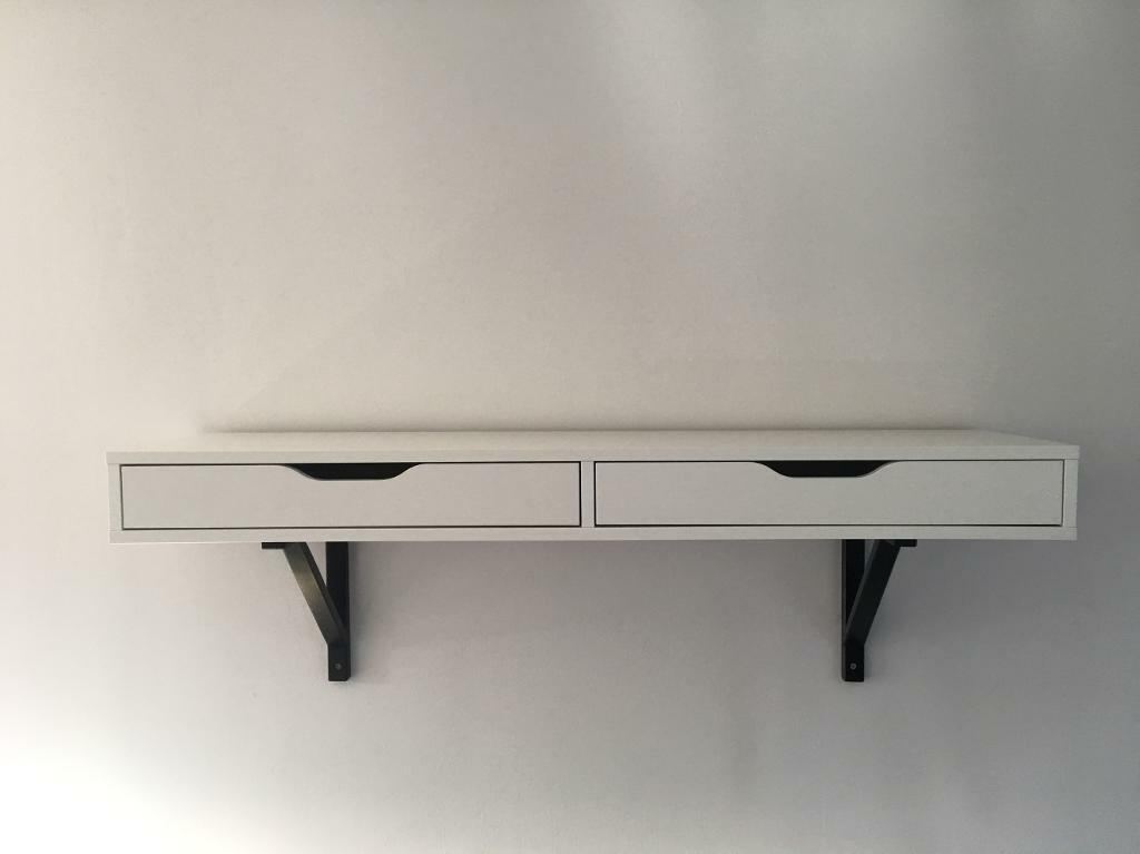 Ikea Ekby Alex White Shelf With Drawers Includes The Black