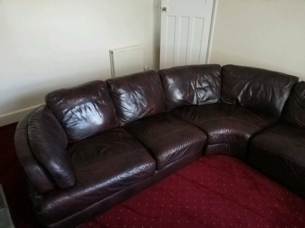 Settee Yorkshire Furniture Corner Leather Suite