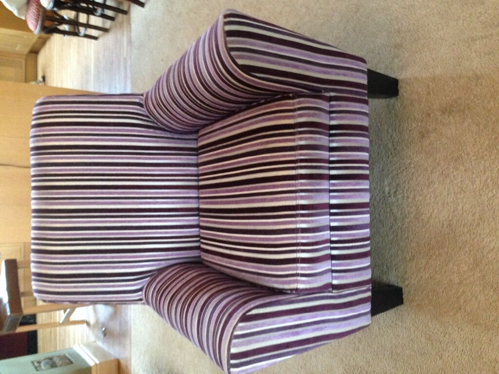 Red Striped Chair Next Purple Striped Chair In Cardiff Gumtree