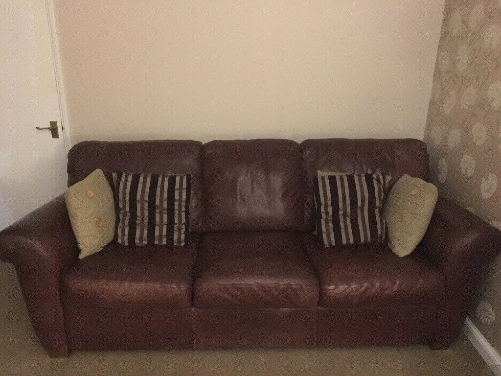 Leather Recliner Gumtree Glasgow Leather 3 Seater Sofa In East Kilbride Glasgow Gumtree
