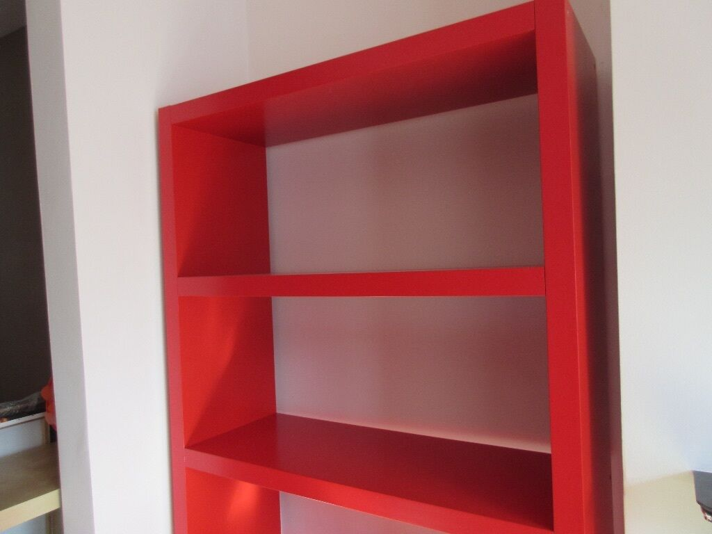 Reducedikea Lack Bookcase In Red Hugely Popular But Now