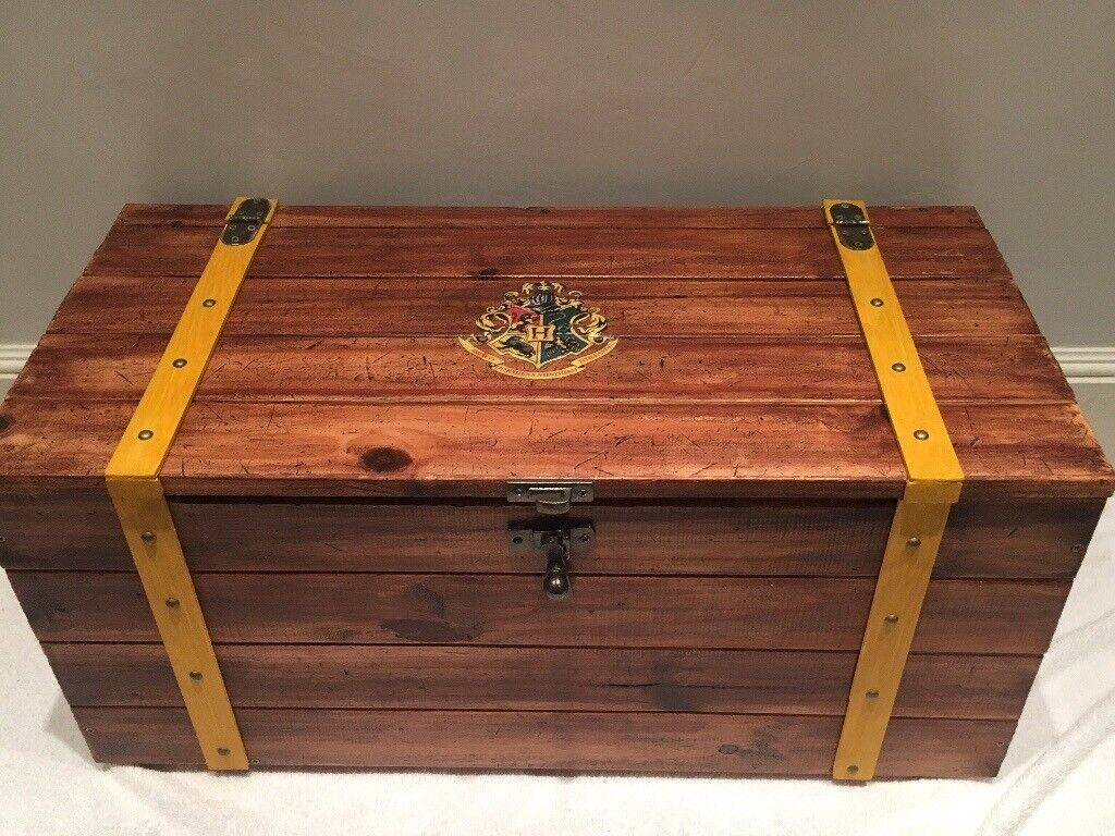 Custom Made Harry Potter Style Trunk Blanket Box In