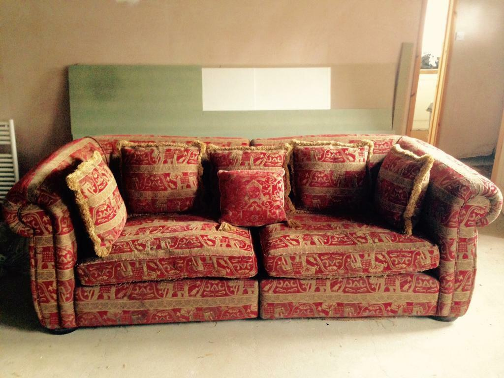 Big Sofa Maximus Duresta Maximus Large Sofa Russet Red Gold Stone In
