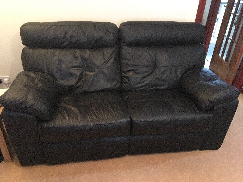 Leather Recliner Gumtree Glasgow Black Leather Sofa 2 Seater Recliner In Kingswells