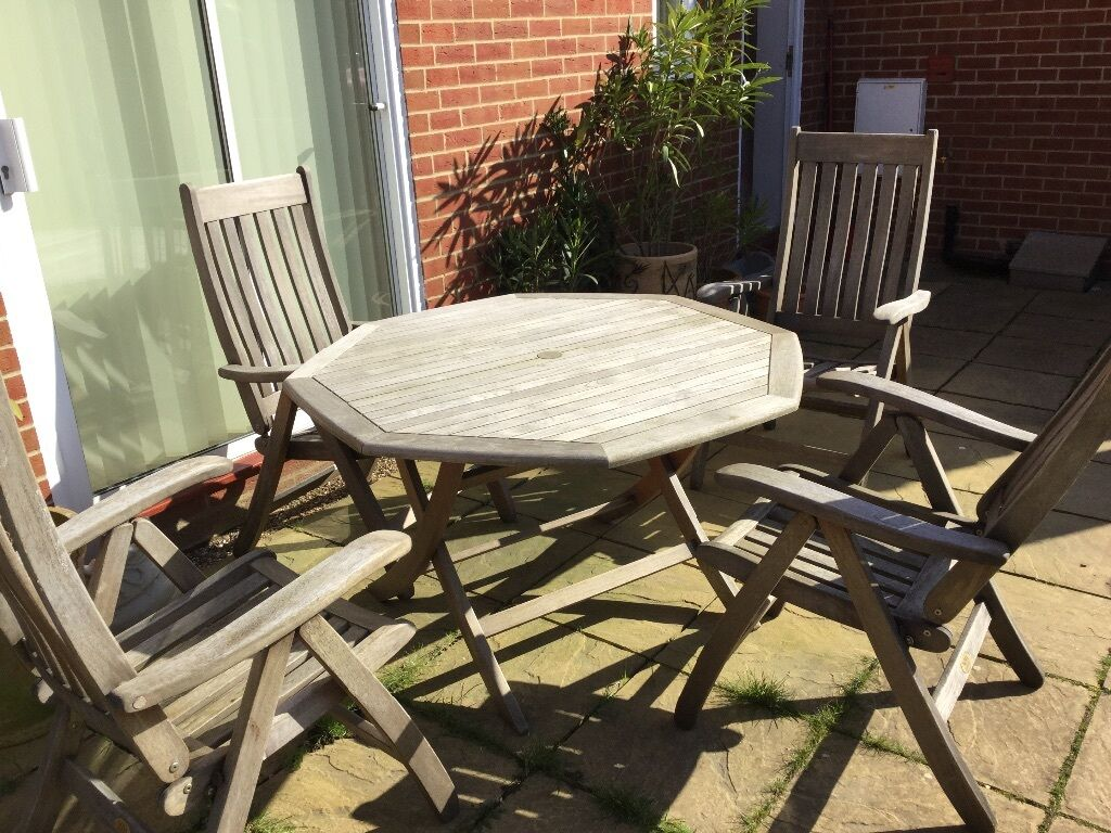 Nova Solid Teak Garden Set Consisting Of Table And 4