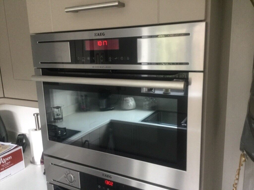 Integrated Microwave Aeg Integrated Microwave Combination Oven Kr8403001 In
