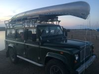 Land Rover 110 heavy duty expedition roof rack with ladder ...