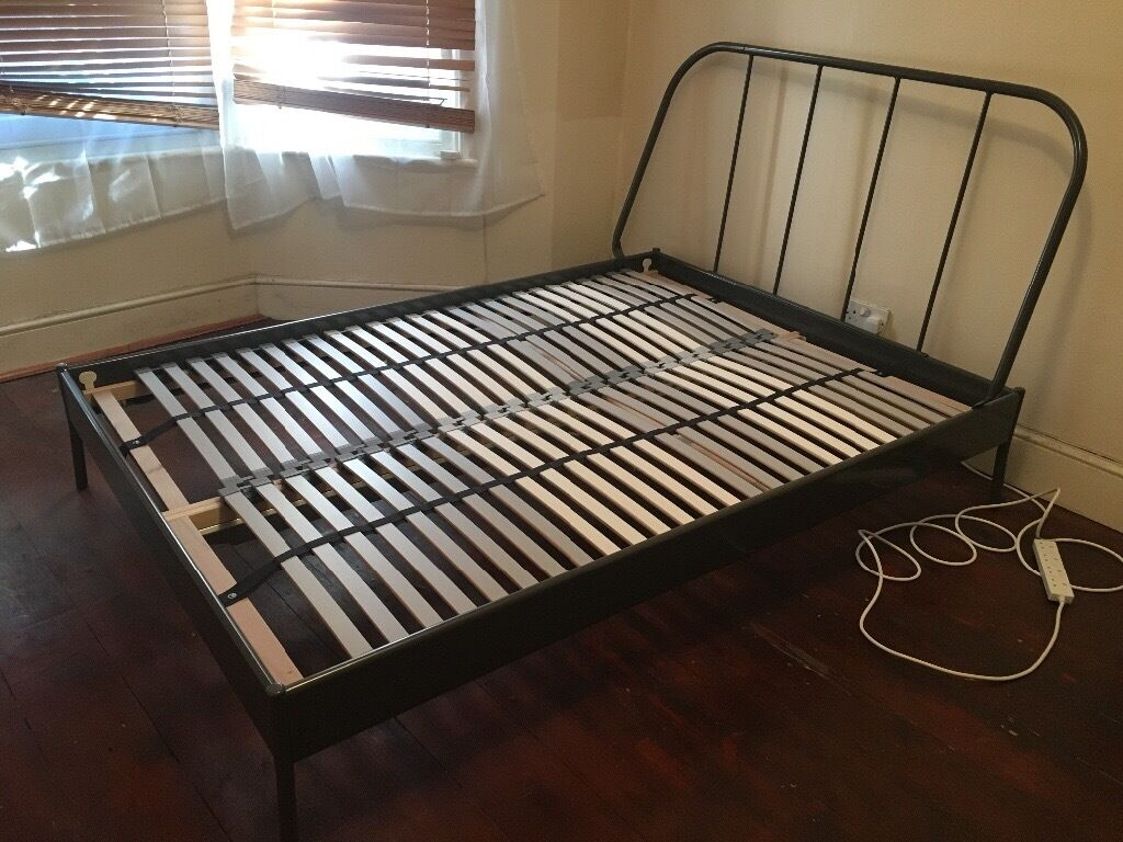 Double Beds Ikea Ikea Grey Metal Frame Kopardal Double Bed In Clapham