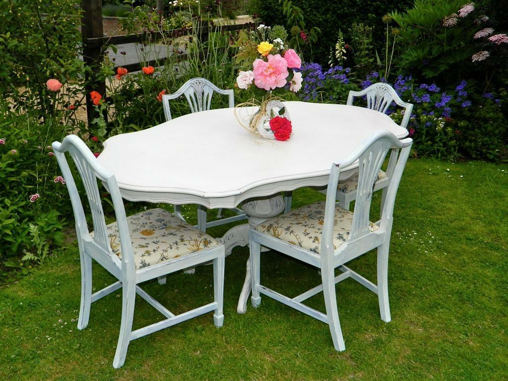 Beautiful Table And Chairs Beautiful Shabby Chic Dining Table And 4 Chairs In