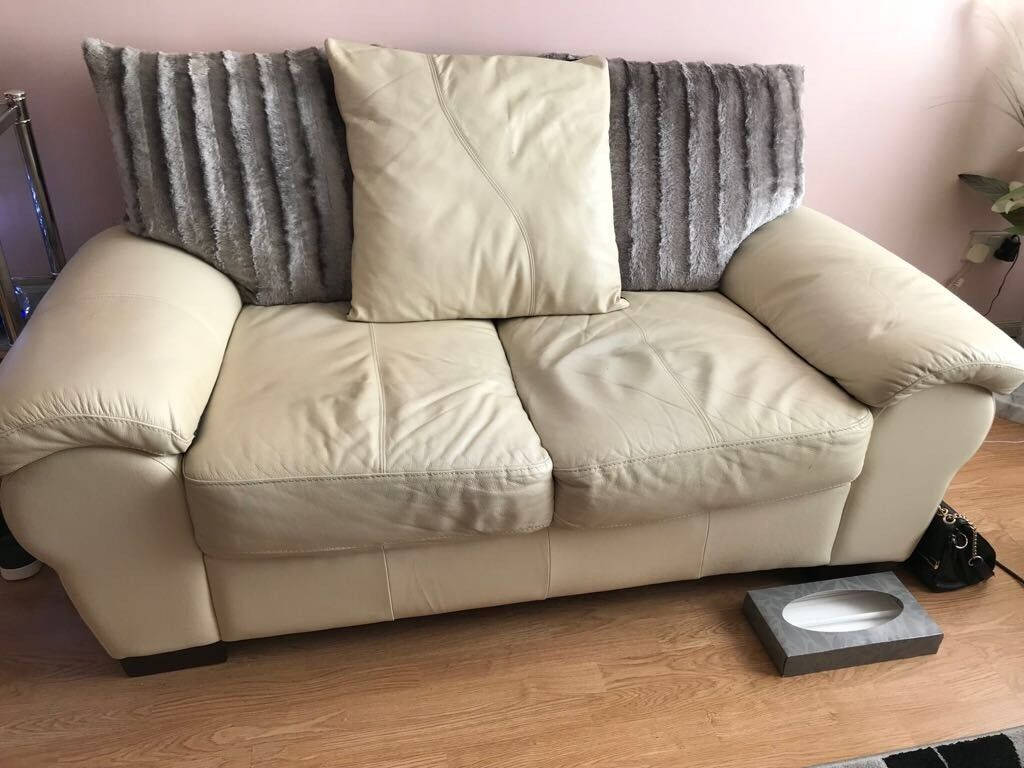 Leather Recliner Gumtree Glasgow Free Cream Leather Sofas In Barrhead Glasgow Gumtree