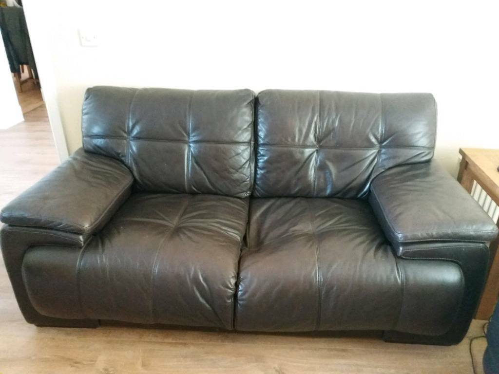 Leather Recliner Gumtree Glasgow Brown Leather Sofa In Stepps Glasgow Gumtree