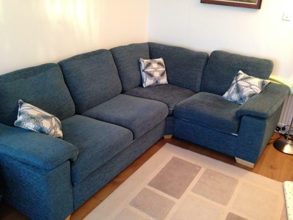 Dfs Sofas Glasgow Dfs Corner Sofa And Swivel Chair - Like New - Teal