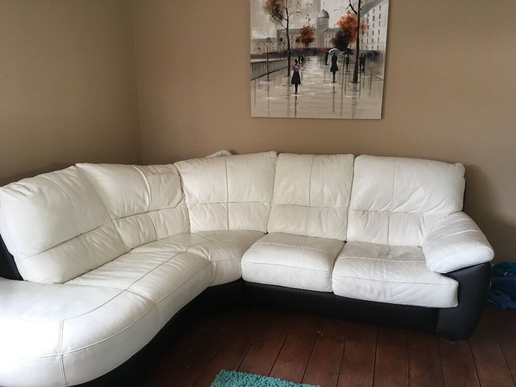 Leather Recliner Gumtree Glasgow Leather Corner Sofa 43two Seater Sofa And Recliner Chair
