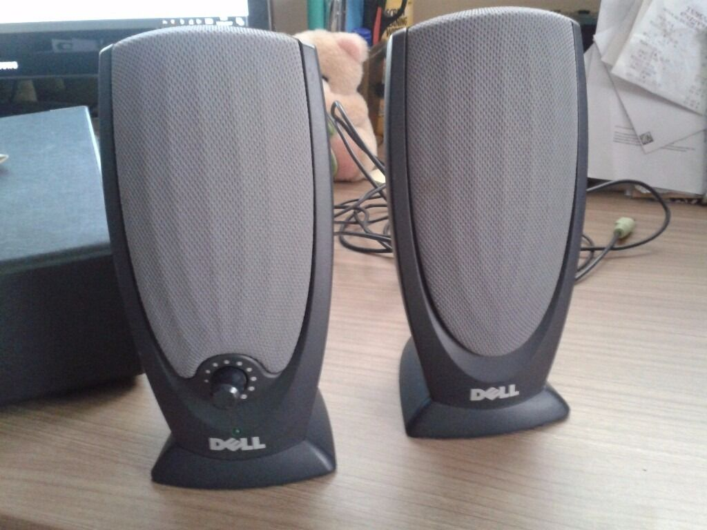Grey Sofa Gumtree Belfast Pair Of Dark Grey Dell Pc Speakers | In Saffron Walden