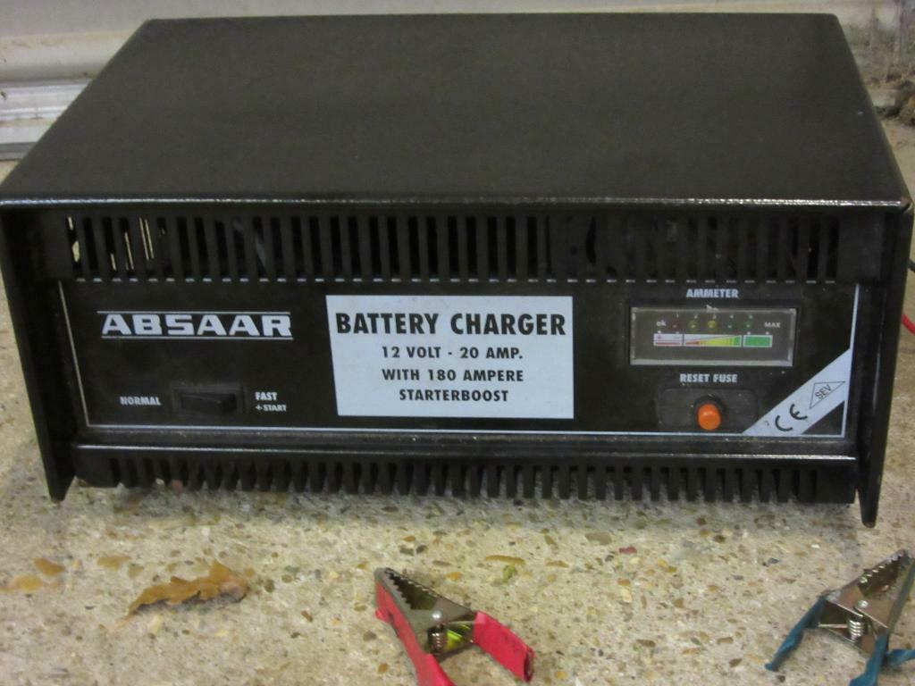 Absaar 12 Volt Battery Charger 20 Amp With Starter Boost