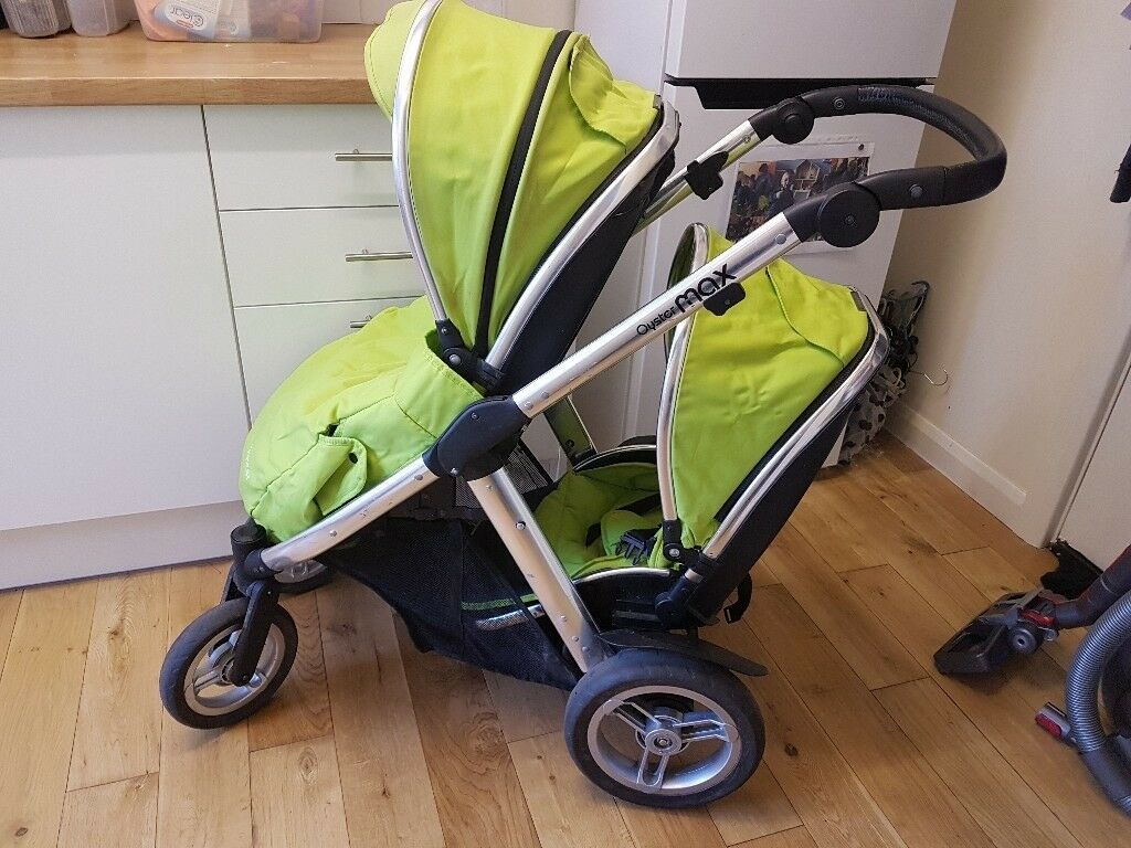 Oyster Max Buggy Oyster Max Double Buggy Pram Lime Green Used Condition
