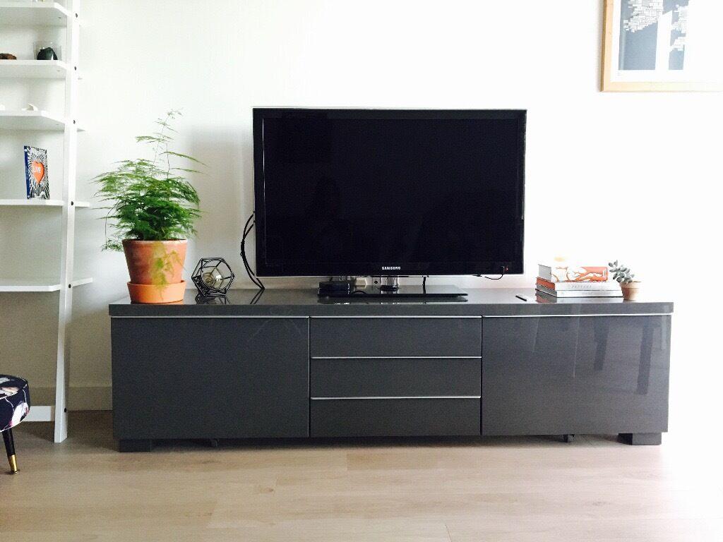 Ikea Meuble Tv Noir