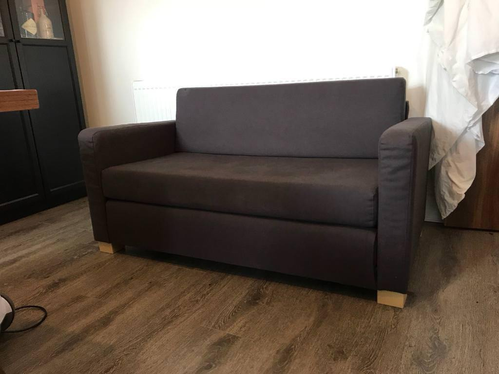 Ikea Ullvi 2 Seater Sofa Bed Charcoal Grey Never Used