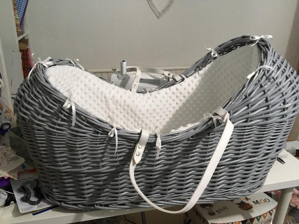 Baby Pod Wicker Crib Moses Basket In Cyncoed Cardiff