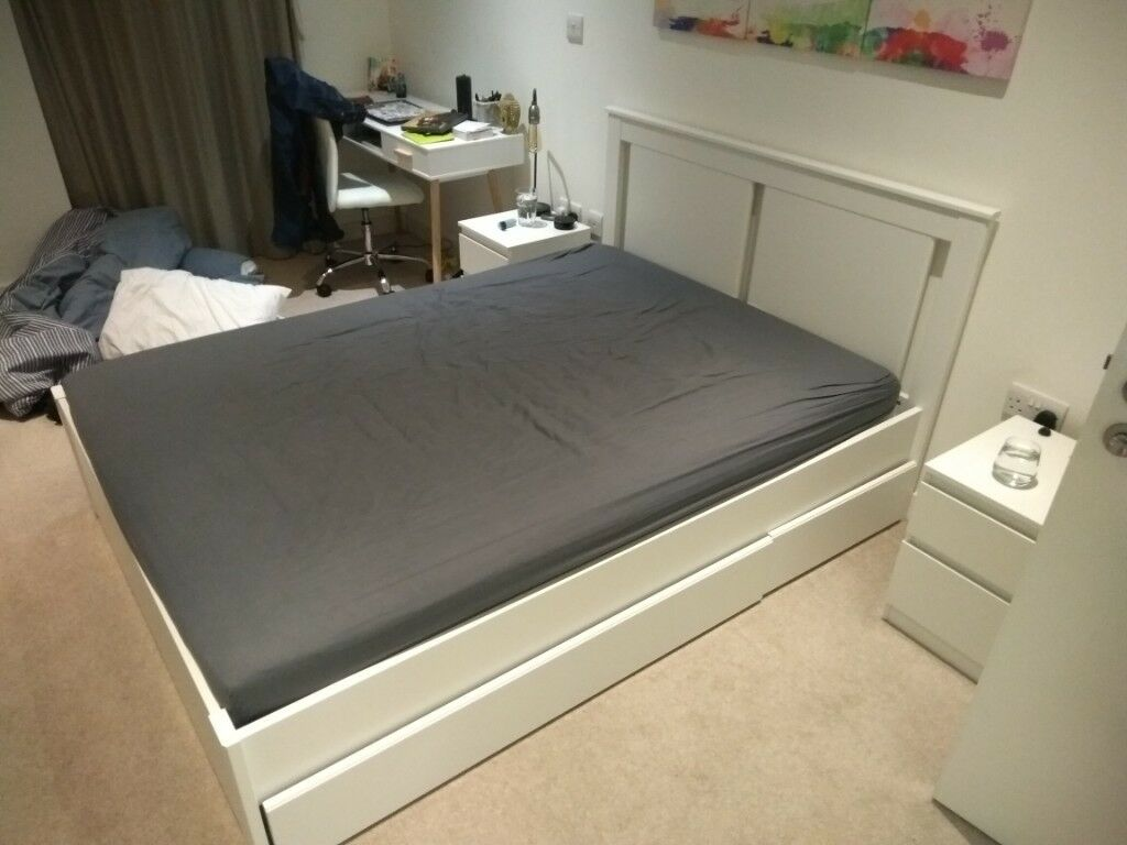 Bedroom Set Including Mattress Songesand Bed Frame With 2 Storage Boxes Mattress Not