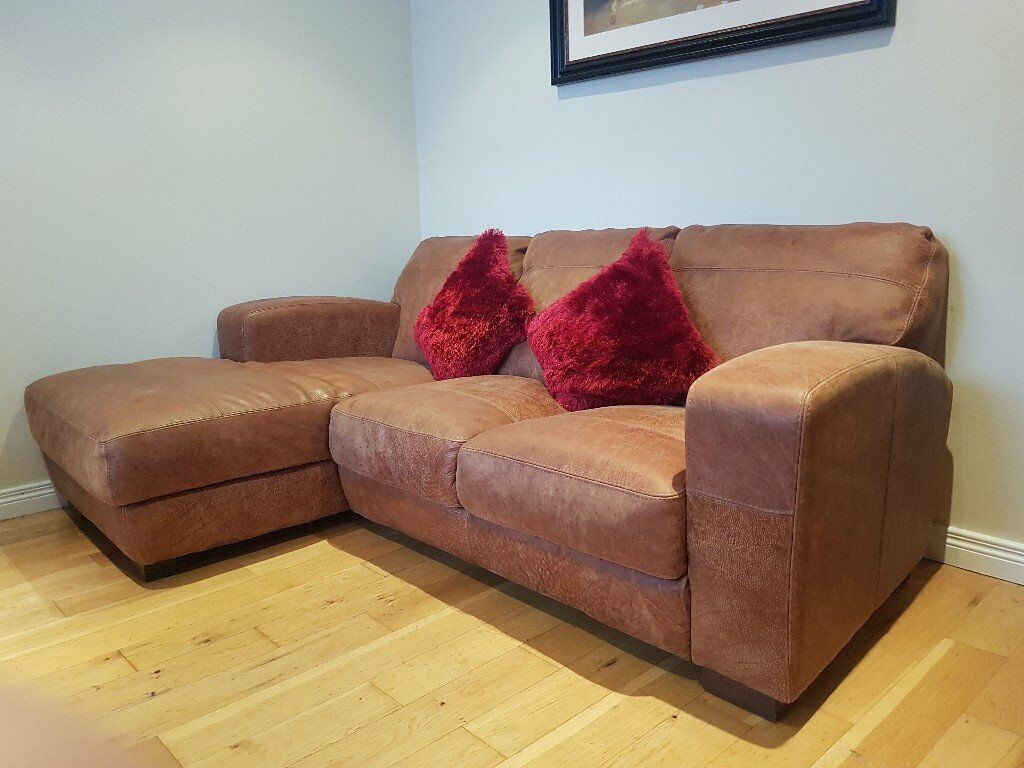 Grey Sofa Gumtree Belfast Brown Leather Corner Sofa With Matching Footstool In
