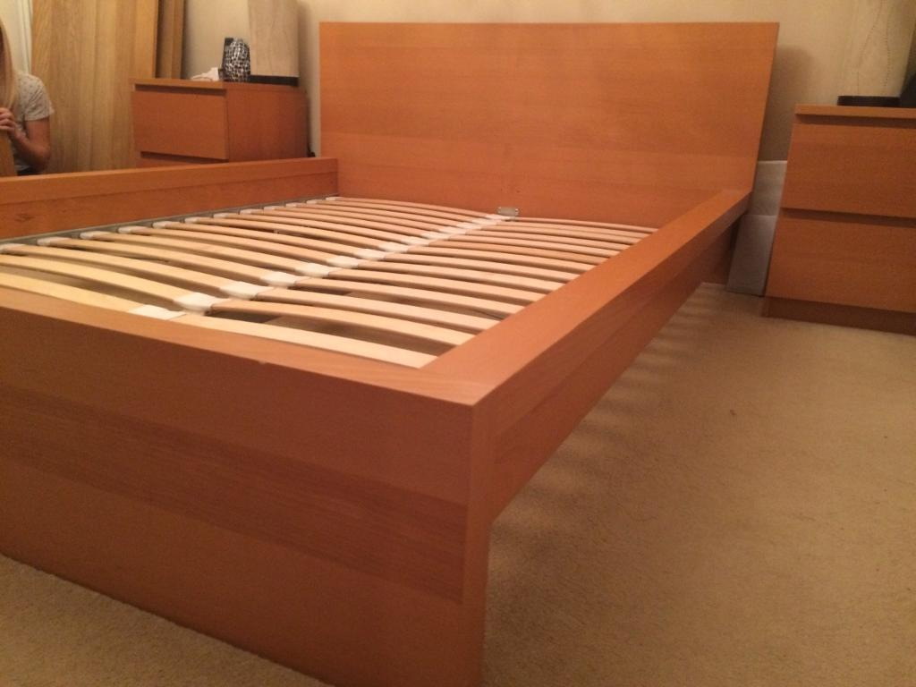 Ikea Malm Double Bed Frame In Beech Purchase Sale And