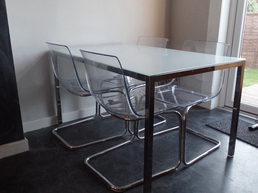 Used Glass Top Dining Table And Chairs Decorating