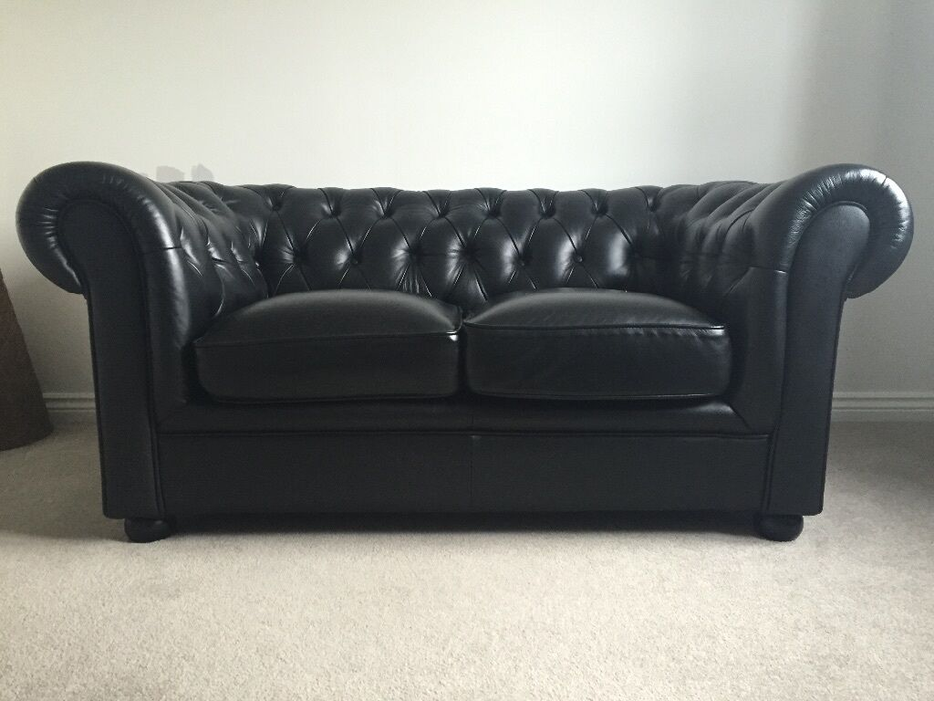 2 Seater Chesterfield Sofa Gumtree Black Leather 2 Seater Chesterfield Sofa 200 Ono In