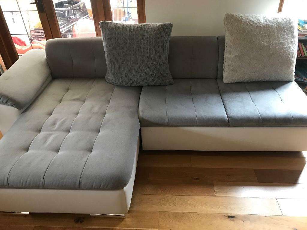 Gray And White Sofa Modern Modular Large Corner Sofa Chair Grey And White In