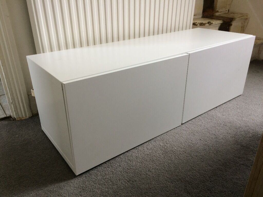 Ikea Bed Foundation Ikea Besta Shelf Unit With Doors In White | In Leytonstone