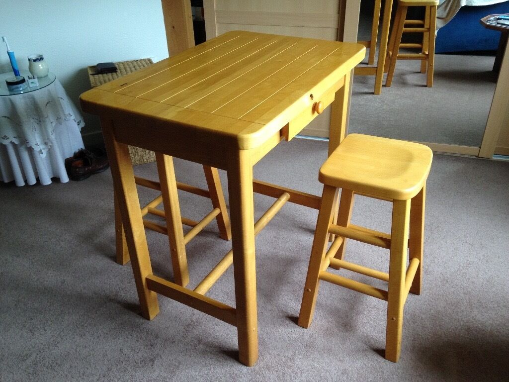 Small Kitchen Tables For Two Small Kitchen Table And 2 Matching Stools In Dundonald