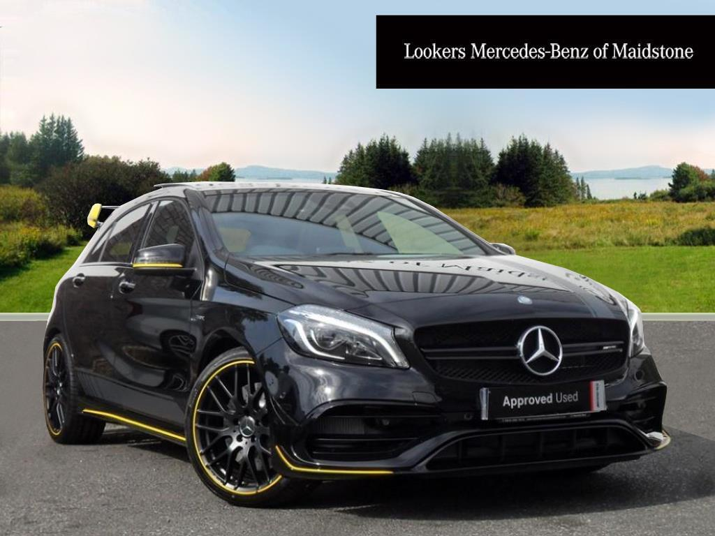 Mercedes Amg A Class Mercedes Benz A Class Amg A 45 4matic Yellow Night Edition