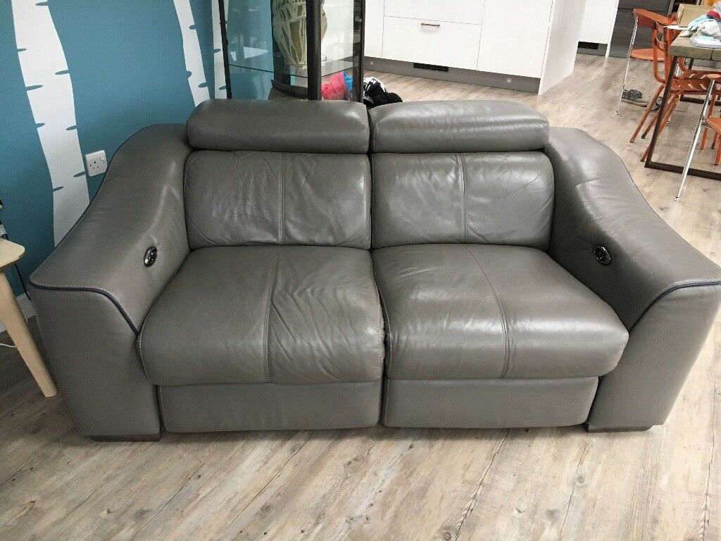 Leather Recliner Gumtree Glasgow Furniture Village Electric Recliner Grey Leather Sofa In