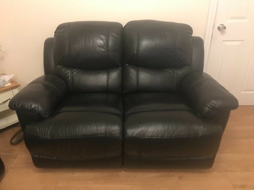 Leather Recliner Gumtree Glasgow Black 2 Seater Leather Recliner Sofa X2 In Bartley Green