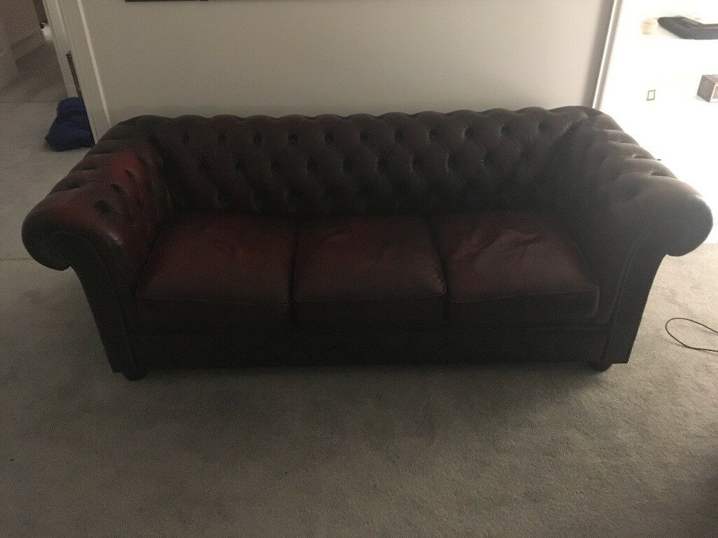 2 Seater Chesterfield Sofa Gumtree Classic 39pendragon 39 Chesterfield 3 Seater In Broomhill