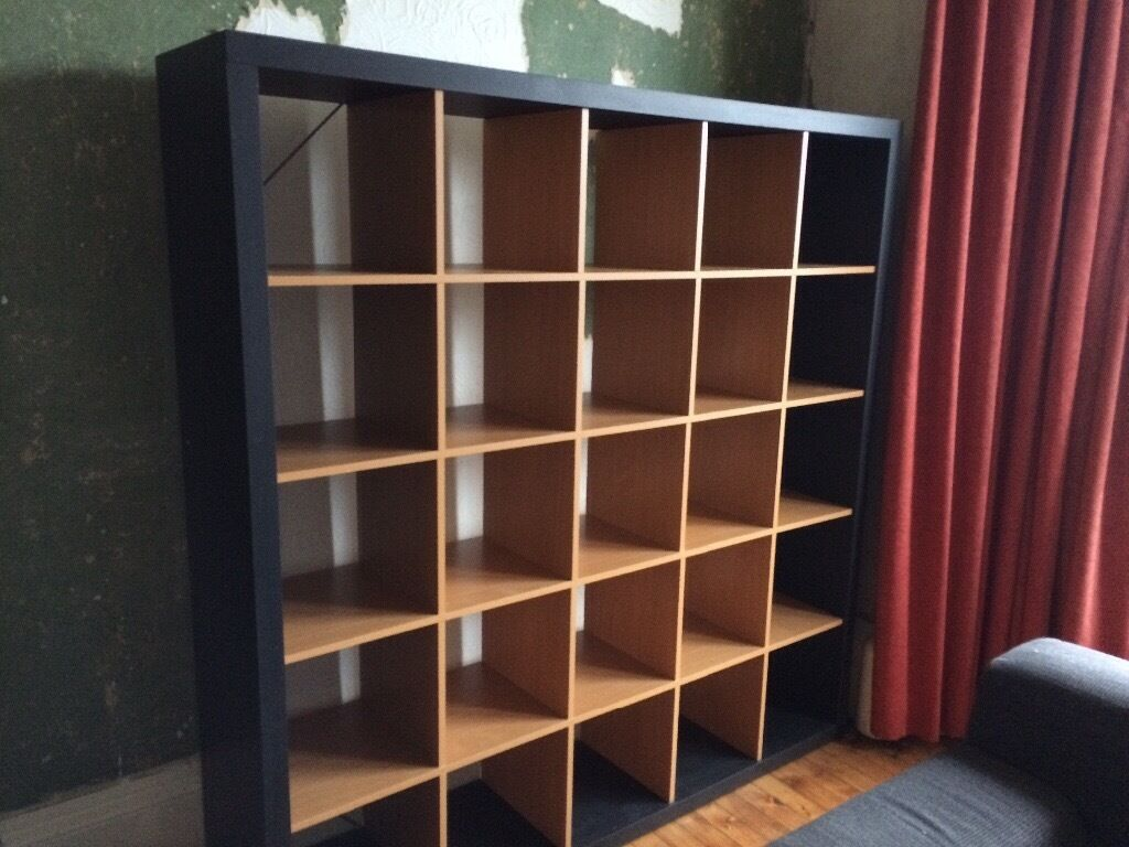 Kallax Expedit Ikea Expedit 5x5 Vinyl Record Shelves Black / Beech (now