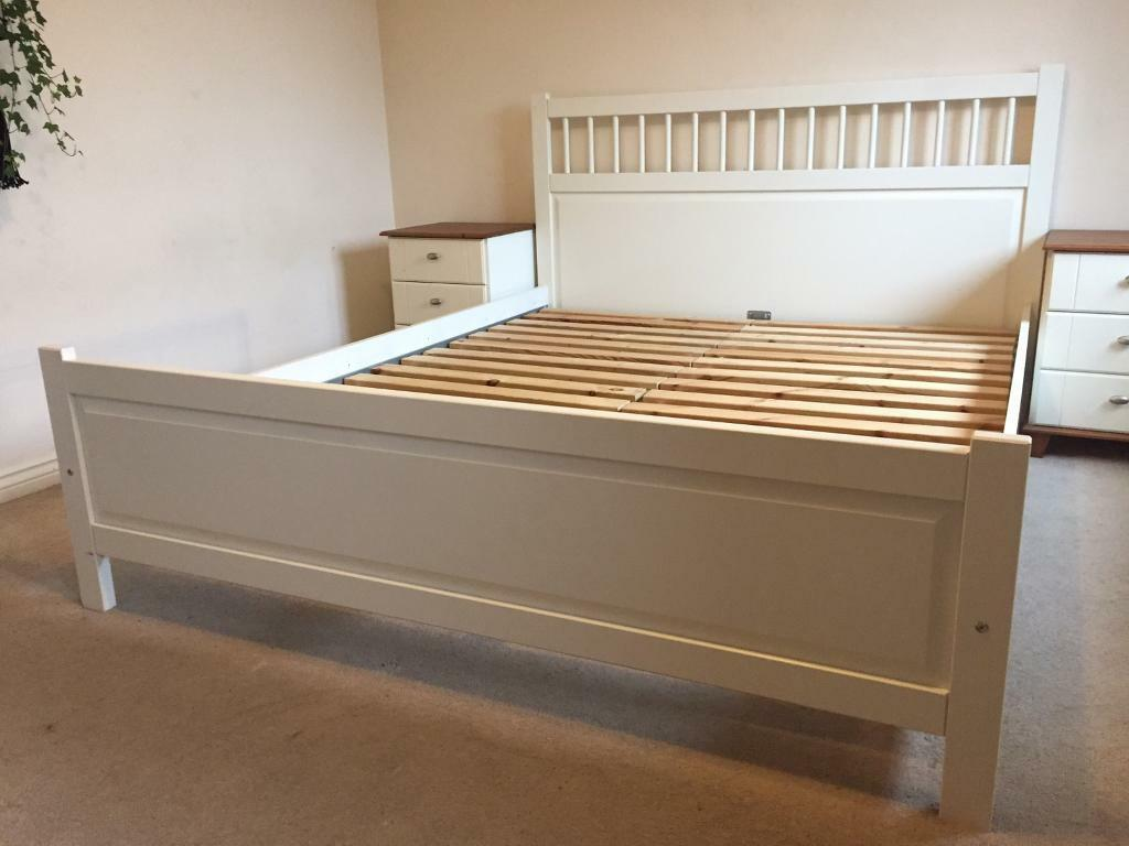 150 X 200 Bed Ikea Hemnes White King Size Bed 200 X 150cm In