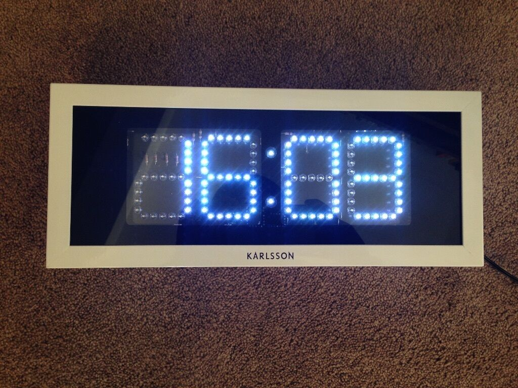 Small Led Clocks Karlsson Rectangular Led Wall Clock In Walton On Thames