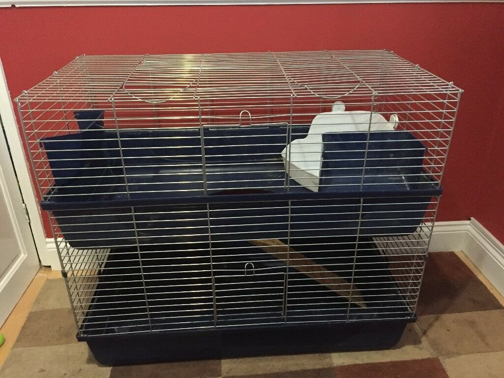 Cat Cage Gumtree Indoor Double Tier Rabbit Cage Hay Feeder And Litter Tray