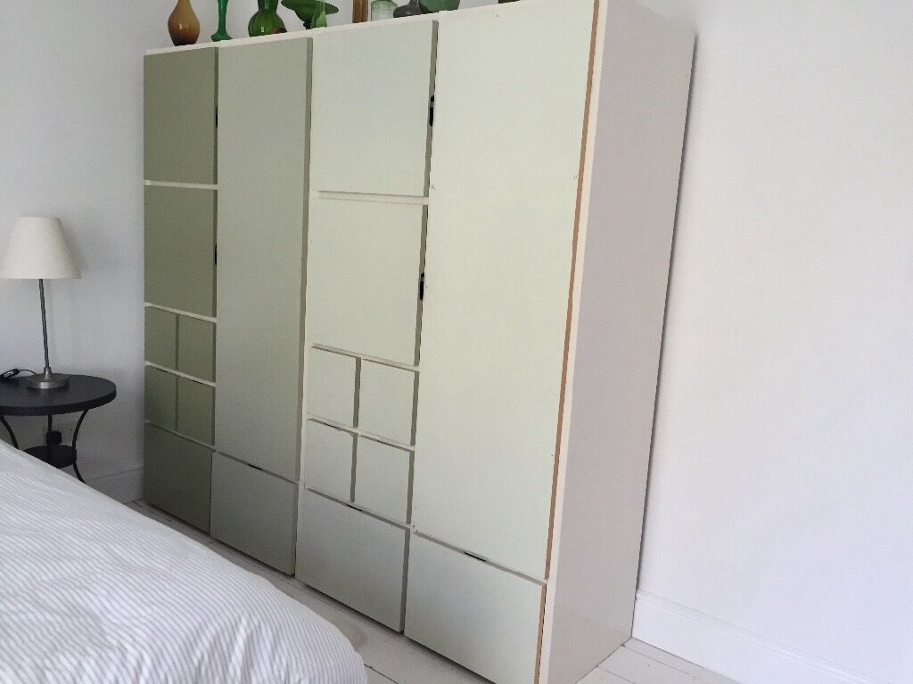 Armoire Rakke Pair Ikea Rakke Wardrobes With Painted Doors In